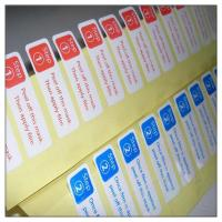 Glossy laminated adhesive sticker labels with cutting ,self adhesive paper label with cutting