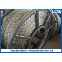 China 6 Squares 18 Strands Anti Twisting Steel Wire Rope For Transmission Line Stringing wholesale