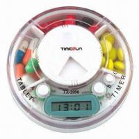 China Pillbox Timer, 3 Compartments with Time and Alarm wholesale