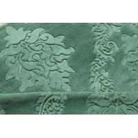 China 75D Yarnd Green Embossed Flannel Fleece Fabric OEM / ODM Available wholesale