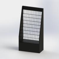 China 11 Tiered Literature Floor Stand MDF And Metal Display Rack For Brochures Holder on sale