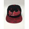 China Snapback Baseball Hat Sports Embroidery Printing Geometry Black Blue wholesale