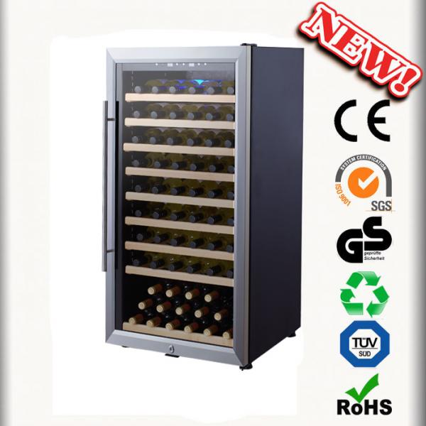 Quality 80 Bottles Refrigerated Bar Wine Cooler No Vibration Wine Cabinets for sale