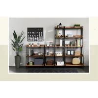China Metal And Dark Wood Display Shelves, Wooden Rack Display Different Sizes wholesale