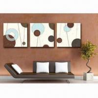 Frameless Decorative Painting, Measures 33.5 x 38cm, Eco-friendly