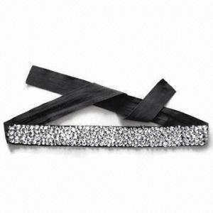China 100% Mão-costurou correias do cristal de rocha para mulheres com material da tela do poliéster wholesale