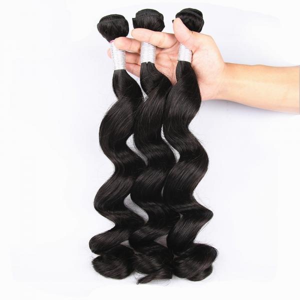 Quality Unprocessed Virgin Human Hair Bundles Loose Deep Wave Human Hair Weave For Black Woman for sale