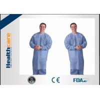 Breathable Disposable Lab Coats for Dental , Sterile Disposable Lab Jackets Waterproof