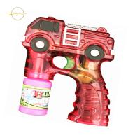 China LED Kids Light Up Toys Bubble Gun Fire Truck Design For Outdoor Sand Beach wholesale