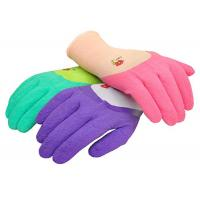 China Custom Latex Coated Work Gloves , Ladies Gardening Gloves With Micro Foam wholesale