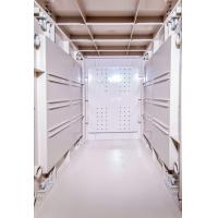 China Token Operated Lockers 3 Comparts 1 Column , Red Storage Locker For Gym wholesale