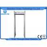China Archway Walk Through Portable Door Frame Metal Detector Gate 6 Zones Wood Door Panel wholesale