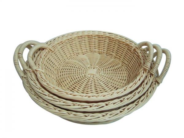 Round Wicker Baskets With Handles : Rattan round basket with handle images