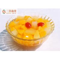 China Bulk Delicious Organic Mixed Canned Fruit In Light Syrup No Preservatives wholesale