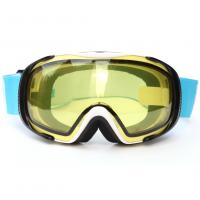 Quality Helmet Compatible Anti Fog Ski Goggles For Mens , Yellow Snowboard Goggles for sale