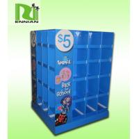 Blue Special POS Cardboard Pallet Display Stand Environmentally Friendly