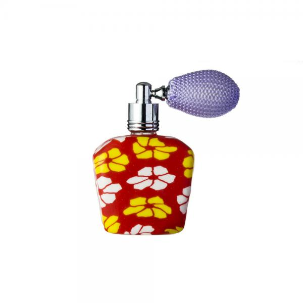 Quality Refillable Mini Clay Perfume Bottles Fragrance Bottles With Bulb Spray Pump for sale