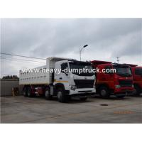 China HOWO A7 8X4 12 Wheeler Heavy Duty Dump Truck With 30m³ Cubage Capacity For Mining wholesale