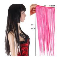 China Long Silky straight Synthetic Hair Extensions Double Drawn Strong Hair Weaving wholesale