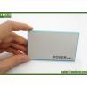 China 2000mah Ultra Slim Power Bank White / Blue Credit Card Portable Charger wholesale
