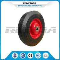 China Farm Wagon Solid Rubber Wheels , Metal Rim Solid Rubber Tires For Wheelbarrows wholesale