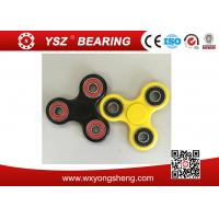 Black / Yellow Hand Spinner Fidget Toy / Tri Spinner With 608 Bearings