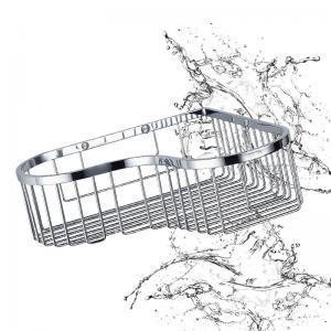 Buy cheap Нержавеющей стали полки корзины ванной комнаты установка вспомогательной угловой from wholesalers