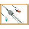 China Las ventajas pacientes del Pin 3 del cable 11 de Nihon Kohden ECG rompen el tipo aislado AHA wholesale
