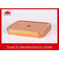 China Empty Rectangle Mini Tin Box Plain Simple Color Printed For Toys Packaging wholesale
