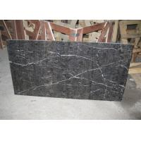 China Antique Brown 12x12 Marble Tile , Honed Marble Floor Tiles For Living Room wholesale