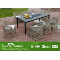 PE Rattan Outdoor Patio Furniture Dining Sets , Garden Table and Chairs Anti - Termite