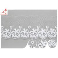 China Polyester Width 3CM Ribbon Embroidered Lace Trim For Wedding Dress wholesale