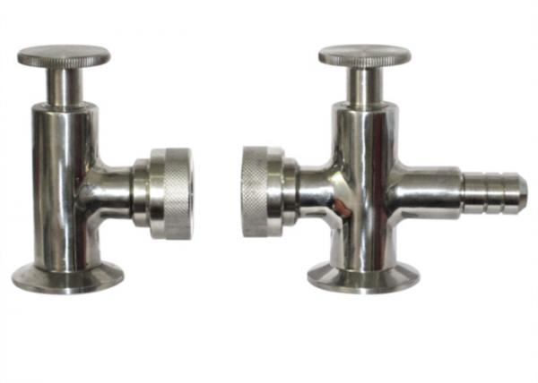 Quality Hygienic Grade Tri Clamp Sample Valve ISO9001 Approved , R1.6m External Surface Finish for sale