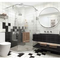 China High Water Absorption Ceramic Bathroom Wall Tiles 15X15cm For Dining Room wholesale