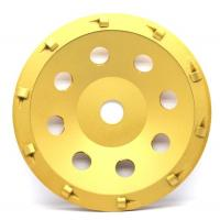 China 5& 7 PCD Diamond grinding Wheel with quarter size PCD segments For Concrete Floor Coatings Removing wholesale