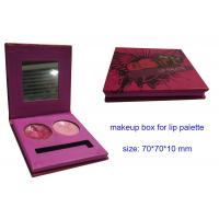 Buy cheap 2 colors Lip Palette Boxes with Mirror, Paper Pink Cosmetic Packaging Boxes , Cosmetic Mak from wholesalers