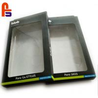 China Cardboard Packing PVC Window Boxes , Cardboard Gift Boxes For Mobile Case on sale