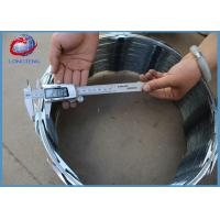 China Customized Concertina Razor Wire / Barbed Wire Roll Blue Color Easy Install wholesale