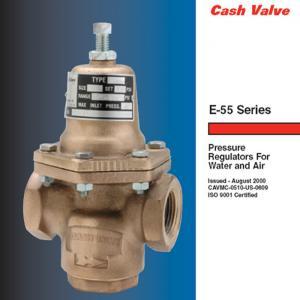 China Cash Valve E-55 High Capacity Bronze Body Material Pressure Regulating Valve E55 CASH Valve on sale