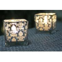China Square Printing Glass Votive Holders Various Size OEM For Home Decoration wholesale