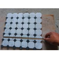 China White Carrara Octagon Natural Stone Mosaic Tile 2 X 2 High Density , Low Water Absorption wholesale