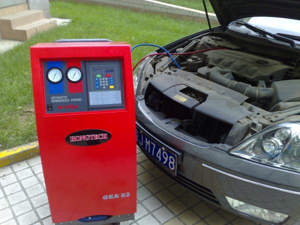Semi Automatic R134a Refrigerant AC Gas Recycling Machine 220v 1200g  #B9121E