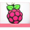 strawberry  Shape Promotional Handmade Soft Pvc Keyholder