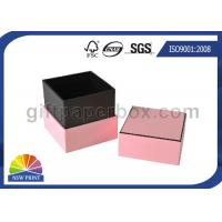 China Hard Cover Cardboard / Kraft Paper Jewelry Boxes , Pink Luxury Small Jewelry Box wholesale