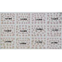 China Nail Art Stickers,Nail Art Decals, Water Slide Nail Stickers, (TJ01-12 pink gold) wholesale