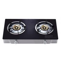 China Portable 2 Burner Table Top Gas Cooker , Two Burner Gas Stove With Glass Top wholesale