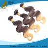 China 7A cheveux 100% colorés bouclés profonds de Vierge de 20 de pouce de Vierge prolongements de cheveux aucun dommages wholesale