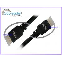 China Aluminum shell black braiding HD 1080P HDMI Cables 1.3 & 1.4 A type Male To A type Male wholesale