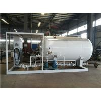 China LPG Propane Butane Gas Tank , Q345R Carbon Steel Gas Filling Plant With Dispenser wholesale