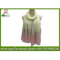 Chinese factory frayed three colors ombre lightweight scarf 100% Viscose 100*195cm spring summer autumn sun protection